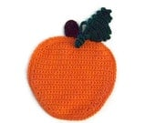 Pumpkin potholder -  Harvest Pumpkin -  Trivet - Double Layer - Crochet cotton with Hanging loop