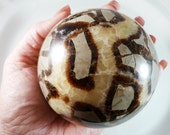 Septarian Sphere Carved Ball 3.4 Inches 869 g Large Dragon Stone Meditation Intuition Gemstone Vug