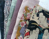 GEISHA LOVERS Collection - Vintage Kimono Remnants and Geisha Fabrics - WOW!