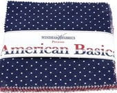 American Basic Charm Pack cotton fabric  5 inch squares