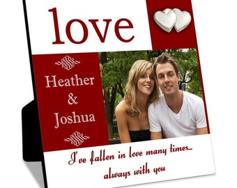 Customized Color Block Photo Frame for Two