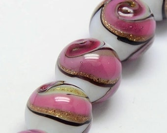 8pc 12mm handmade round lampwork glass beads-7375f