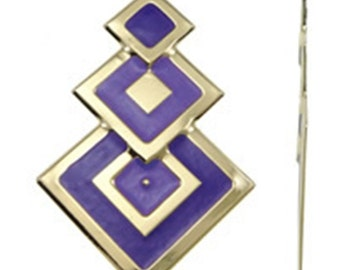 2pc 67x42mm gold plated iron with enamel pendant-10216
