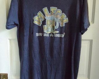 Vintage 70s IM LEGAL Drunk T Shirt sz S