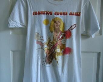 Vintage 1970s PETER FRAMPTON Concert Tour T shirt sz XS