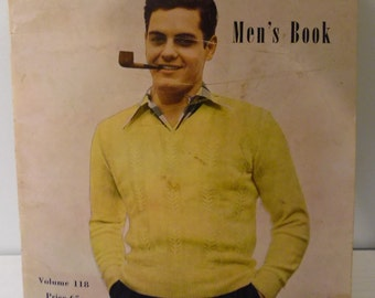 Columbia Men's Knitting Patterns Volume 118 by Columbia-Minerva Corporation, New York