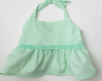 Minty Green Crop Top