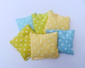 Bean Bag Set of SIX with Carry Bag - Organic Cotton Flannel