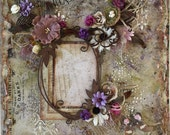 Premade Scrapbook Page, Shabby Chic, Vintage, Altered, Nostalgic