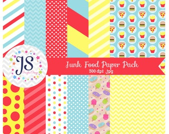 INSTANT DOWNLOAD - junk food paper pack for personal and commercial use