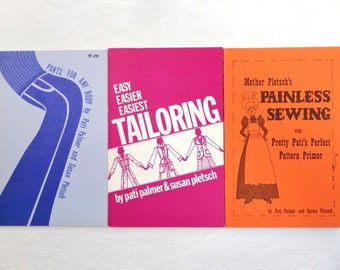 Vintage Palmer Pletsch Sewing Book Lot Pants , Tailoring  3 Books