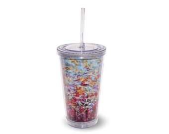 16oz Tumbler with Straw, Colorful Kitchenware Gift for Teacher, Cup With Lid, BPA Free Water Bottle, Water Cup With Straw, Travel Cup, To Go
