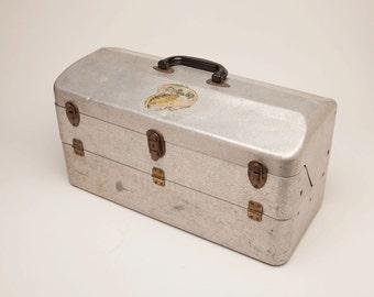 Vintage MY BUDDY Aluminum Tackle Box - Large 6 Tray Model  - Circa 1960's