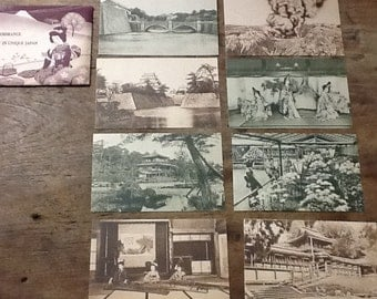 Set of 1930's Japanese Postcards