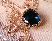 Montana Blue Necklace, Gold-Filled Jewelry, Bridesmaid Jewelry