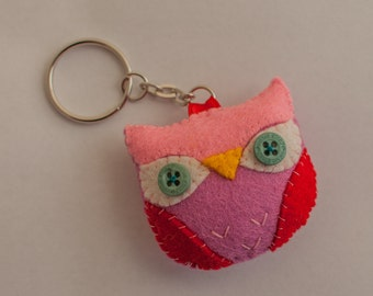 Owl Bookmark, Key chain, Brooch, Badge or ornament.