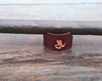 FREE SHIPPING Leather Cigar stand - Cigar NOT included