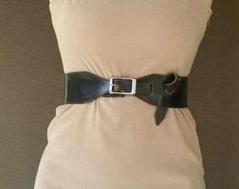 Wide Oil Rustic Leather Belt, Fashion Brown Wide Belt, Women Stylish Belts, Urban Belts, Unique Belt