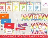 Cooking + Baking Party Package // Personalized // Printable DIY