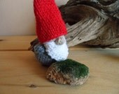 Pocket Tomte, Waldorf Style Tomten, A Scandinavian Christmas Symbol and Tradition, Hand Knit Pocket Gnome, Holiday Decor