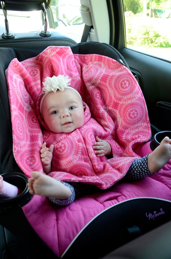 No Sew Fleece Poncho Car Seat
