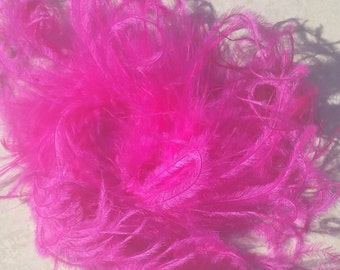 Bow Supplies Curly Ostrich Puff, 5-7inch Curly Full Ostrich Feather Puff, Curly Ostrich Puff, Curly Ostrich Feather Jazzy Lu Ribbons