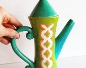 SALE--Butterfly Teapot, summer teapot, funky teapot, summer pottery,  wedding gift