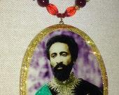 Royal Rastafari Pendant Necklace of Emperor Haile Selassie