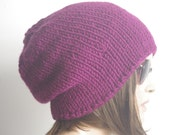READY SHIP unisex hat - chunky knit Slouchy   Beanie Slouch Hat  Accessories Beanie Autumn Christmas Fashion