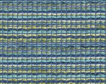 Aqua Blue Tweed Upholstery Fabric - Aqua Yellow Woven Fabric for Furniture - Blue Textured Home Furnishings - Blue Yellow Custom Pillows