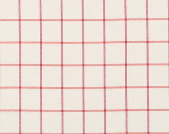 Orange Pink Plaid Upholstery Fabric - Large Scale Wool Plaid Fabric for Furniture - Contemporary Orange Plaid Pillows - Pink Upholstery