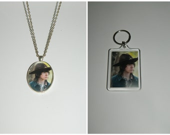 Carl Grimes The Walking Dead Glass Pendant Necklace and/ or Keychain
