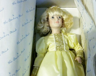 Danbury Mint Dolls, Cinderella Doll, Vintage Porcelain Dolls, Storybook Dolls, Collectible Dolls