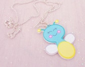 Firefly Laser Cut Acrylic Necklace - Childrens Necklace