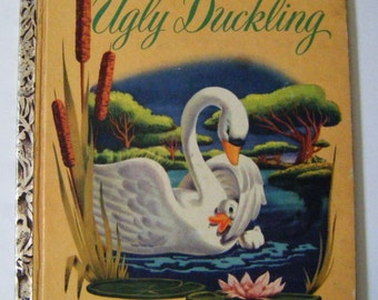 """1952 First Edition Walt Disney's """"The Ugly Duckling"""" Big Little Book Rare"""