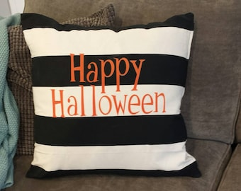 Happy Halloween Pillow Cover ... Halloween decor