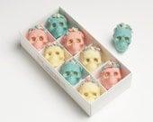 Day Of The Dead Belgian Chocolate skulls/ halloween, birthday gift, wedding favour,