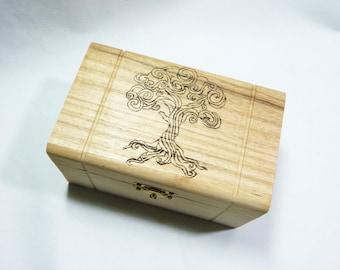Tree of Life - Hand woodburned box