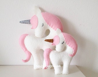 Unicorn with a gold or silver horn Large 20cm