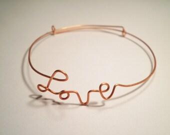 2 Coppercoated Adjustable Love Bracelets