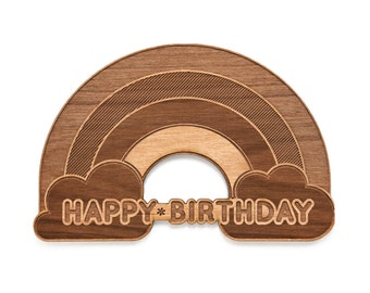 Rainbow Shape Birthday Card