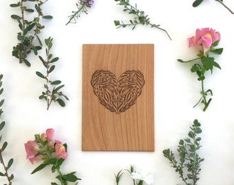 Floral Heart -- Anniversary Card, Love Card, Mother's Day