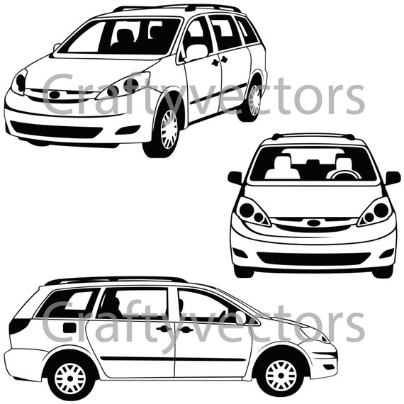 how to draw a toyota sienna