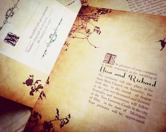 Fairytale wedding invitations - Romantic Fairytale princess wedding invitations {Taylorsville design}