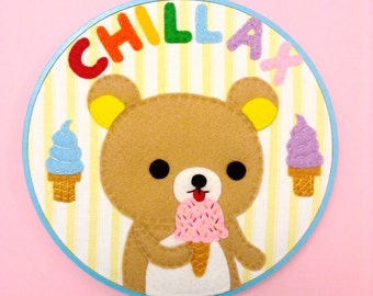 Rilakkuma Ice Cream Hoop--8 inches