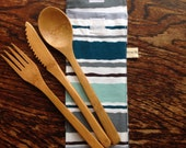 Bamboo Cutlery Pouch