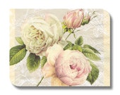 Roses paper napkin for decoupage, mixed media, collage, scrapbooking x 1. Romance roses. No 1159