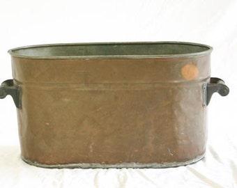 Vintage Copper Cauldron Antique Bucket Party Bucket