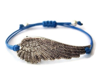Blue Angel Wing Bracelet