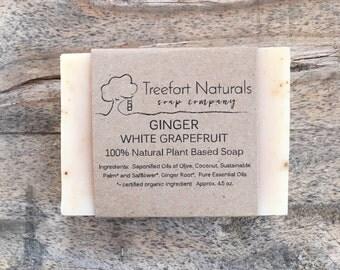 Ginger White Grapefruit soap - Handmade Cold Process, All Natural, vegan, essential oils
